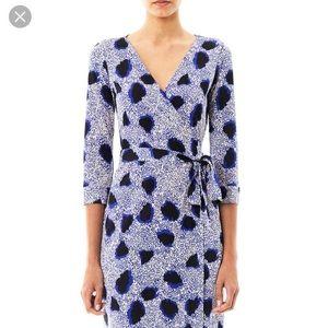 DVF Print Wrap Dress size 0